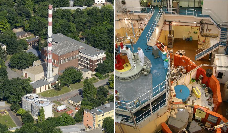 Az EASI-STRESS projektben közreműködő egyik kutatási infrastruktúra az EK csillebérci kampuszán működő Budapesti Kutatóreaktor. Balra a 10 megawatt teljesítményű atomreaktor épületegyüttese, jobbra a reaktortömb és a neutrondiffrakciós berendezések.